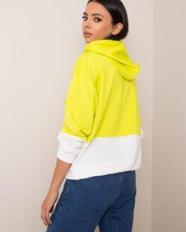 geltonas džemperis sportui moterims